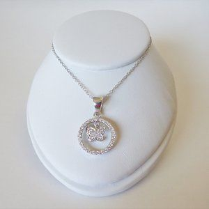 Necklace Sterling Silver 925 CZ  Circle of life